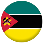 Mozambique Country Flag 25mm Flat Back